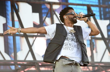 Big Sean performing on the first day of the Wireless Festival, in Finsbury Park, north London