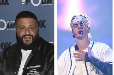 "DJ Khaled and Sean ""Diddy"" Combs at Fox's ""The Four: Battle for Stardom"" Season 2 red carpet at CBS Radford Studios on May 30, 2018 in Studio City, California. / Justin Bieber performs at Allstate Arena on Friday, April 22, 2016 in Rosemont, Ill. / Quavo"