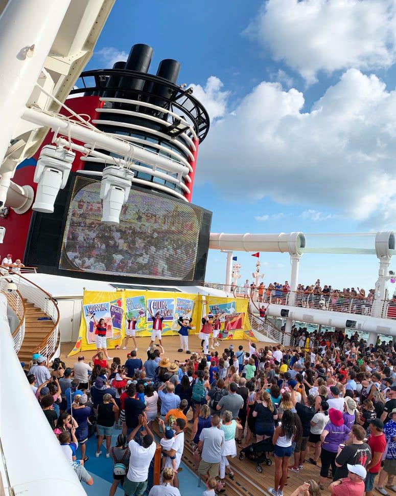 Disney Dream Cruise Ship Deck