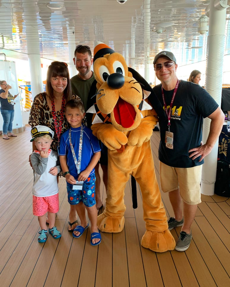 Bill with Pluto & a local Philly Family