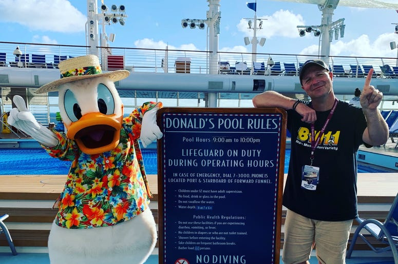 Bill with Donals at his pool