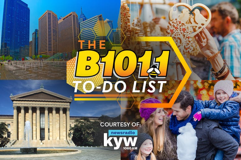 B101 To-Do List things to do in Philly Things To Do events in Philadelphia, weekend events, philly events,