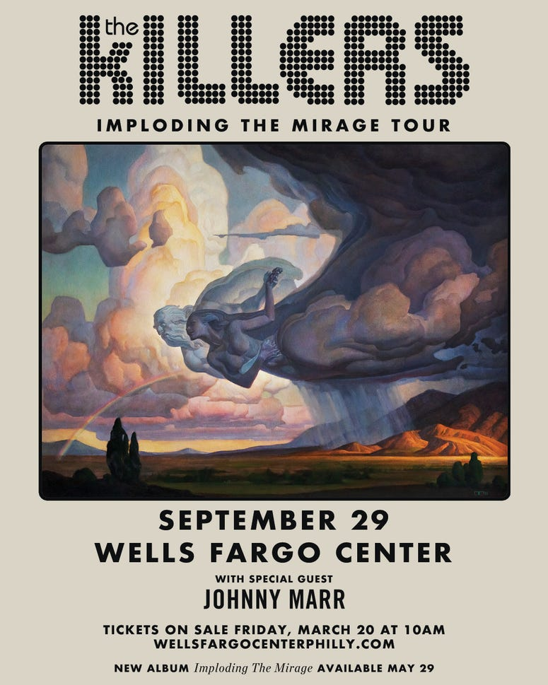 THE KILLERS Imploding The Mirage Tour With Special Guest Johnny Marr Wells Fargo Center Sept, 29, 2020