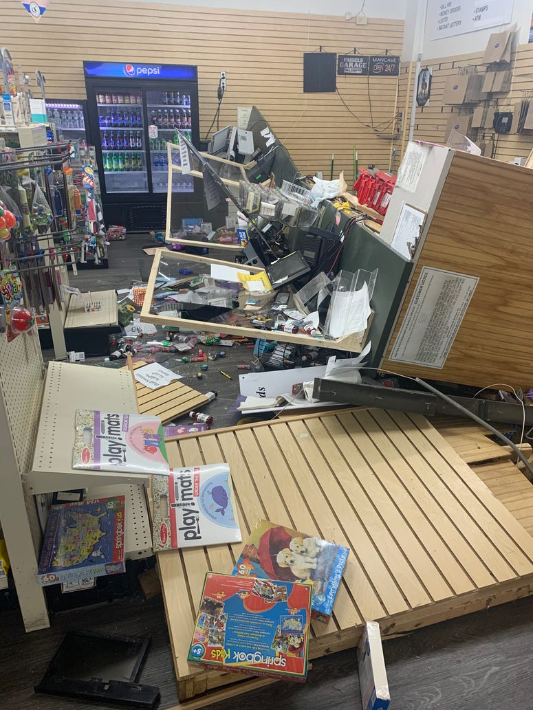 More damage from Black Rock Pharmacy after night of civil unrest