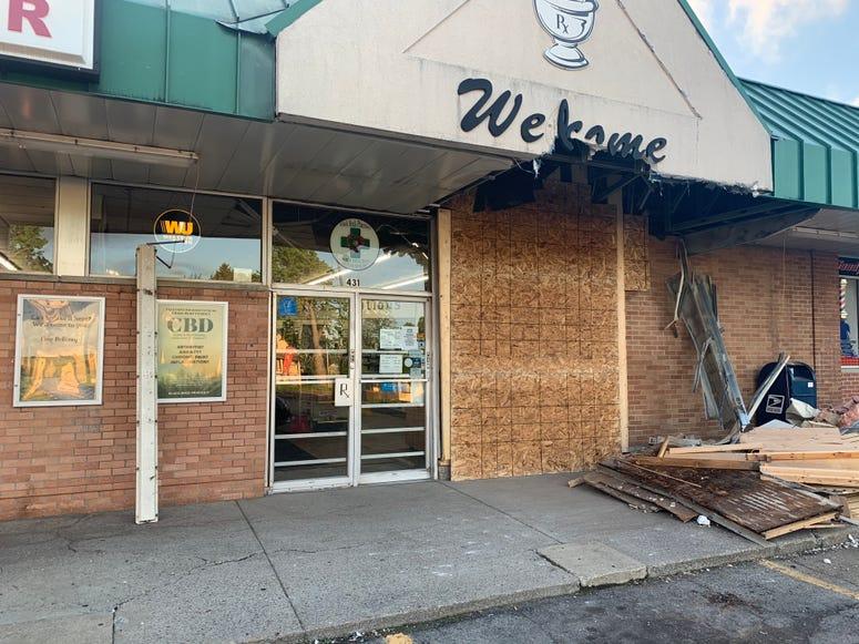 Black Rock Pharmacy boarded up
