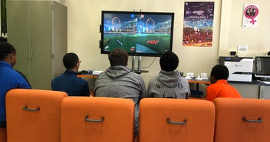 Students at Bennett High School compete in Rocket League. December 18, 2019 (WBEN Photo/Mike Baggerman)