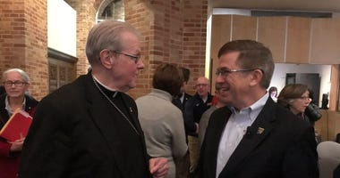 Bishop Edward Scharfenberger and John Hurley