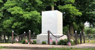 Columbus Park Removed Statue