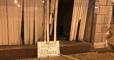 One of dozens of damaged buildings in Buffalo