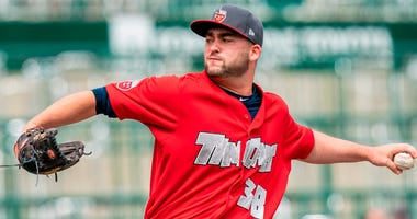 Dan Dallas, a Canisius High School product, pitches for the Fort Wayne TinCaps (Photo Courtesy of Fort Wayne TinCaps)