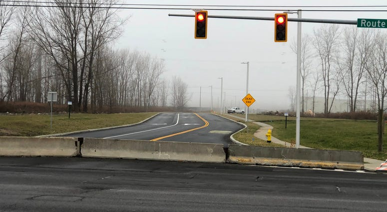 Dona Street into Bethlehem Steel site. January 3, 2020 (WBEN Photo/Mike Baggerman)