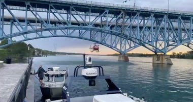 search for a missing swimmer in Niagara River