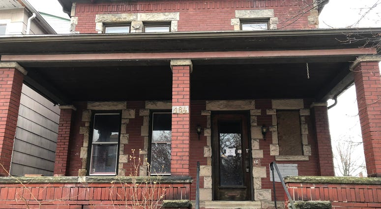 184 West Utica Street. Also known as Ernest Franks House. February 25, 2020 (WBEN Photo/Mike Baggerman)