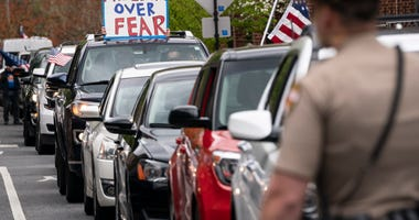 In-vehicle protest in Maryland