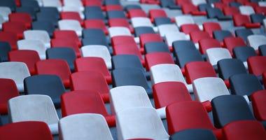 Empty stadiums and arenas