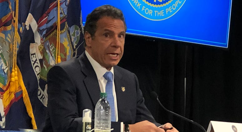 Governor Andrew Cuomo announces that the Western New York region will begin phase one of reopening. May 18, 2020 WBEN Photo/Mike Baggerman