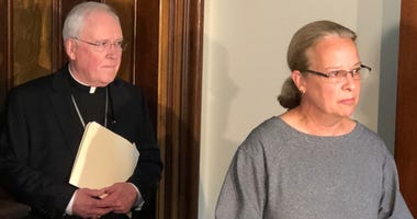Kathy Spangler and Richard Malone. September 4, 2019 (WBEN Photo/Mike Baggerman)