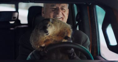 Groundhog Day's Bill Murray gets trapped in a time loop in a Jeep Gladiator