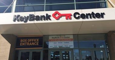 Outside entrance to Key Bank Center, Buffalo, N.Y.