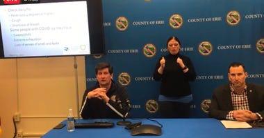 Erie County Executive Mark Poloncarz provides a coronavirus update. March 31, 2020 (Photo via Mark Poloncarz Facebook)