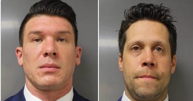 Robert McCabe (left) and Aaron Torgalski mugshot. The two Buffalo Police officers were charged with second degree assault on June 6, 2020 after a push on June 4 of 75-year-old Martin Gugino that left him bloodied when he struck concrete. (Photo: ECDA)