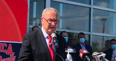 Senator Chuck Schumer. July 15, 2020 (WBEN Photo/Mike Baggerman)