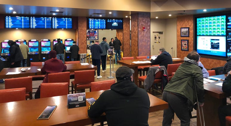 Sports Lounge at Seneca Buffalo Creek Casino. January 30, 2020 (WBEN Photo/Mike Baggerman)