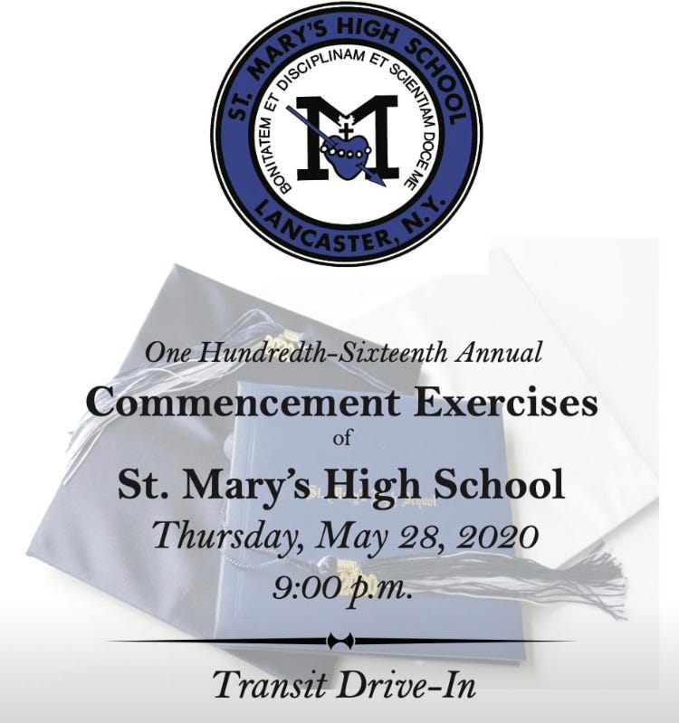 St Mary's High School graduation invitation