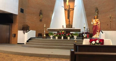 St. Leo the Great Church in Amherst. June 11, 2020 (WBEN Photo/Mike Baggerman)