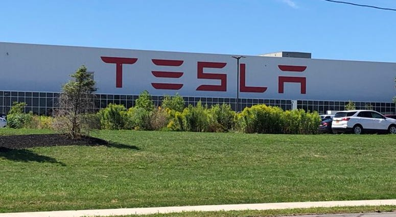 Tesla site in South Buffalo. (WBEN Photo/Mike Baggerman)