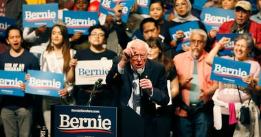 Democratic presidential candidate Bernie Sanders visits El Paso for rally Saturday, Feb. 22