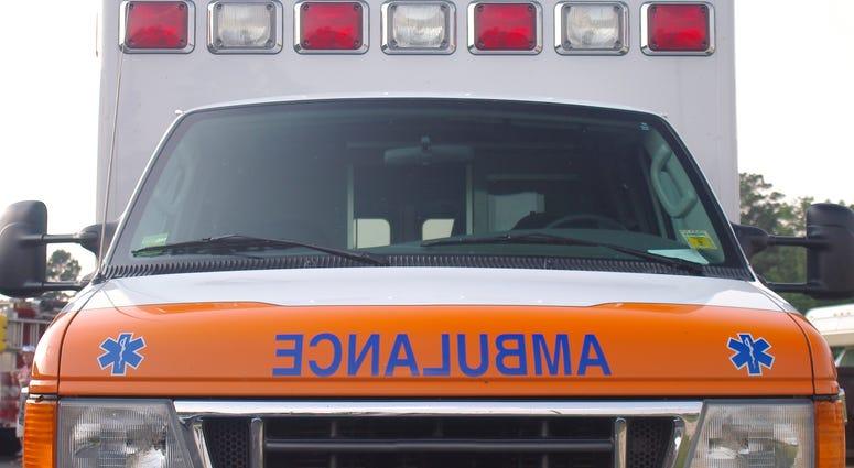 Ambulance front.
