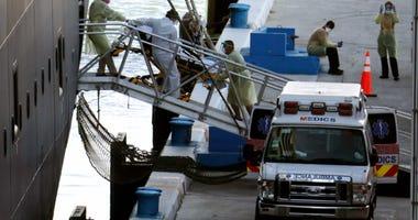 Ships with coronavirus patients dock in Florida
