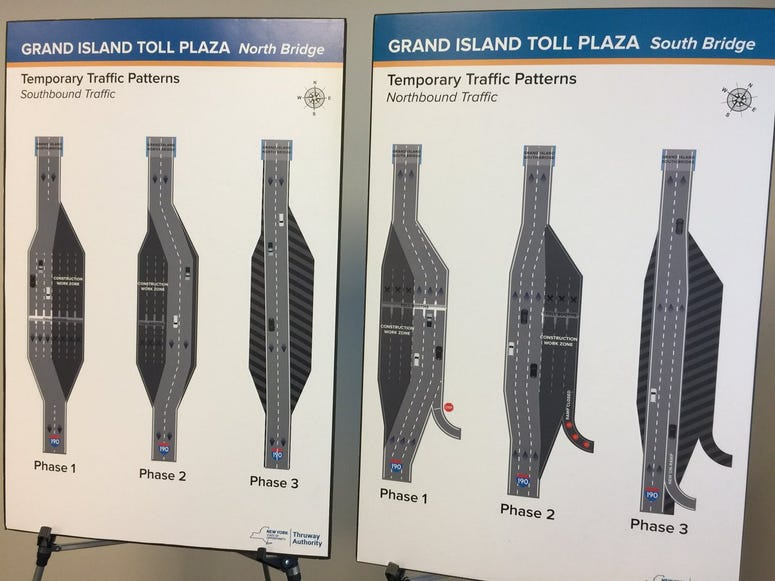 Cashless Tolling to affect traffic patterns at the Grand Island Bridge during its phases to remove the toll barriers