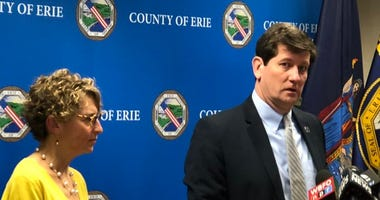 Erie County Health Commissioner Dr. Gale Burstein, and County Executive Mark Poloncarz