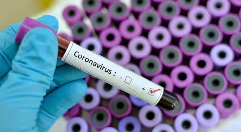 Coronavirus being tested in a lab