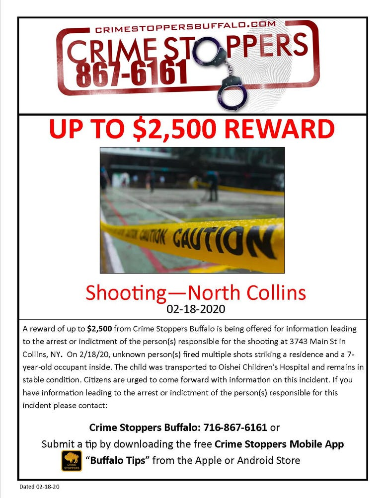 Crimestoppers poster North Collins
