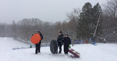 Sledding at Chestnut Ridge Park