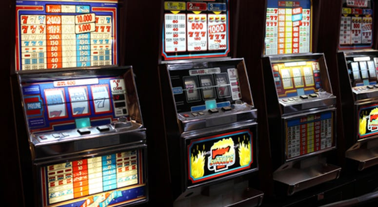 Some slot machines in the casino