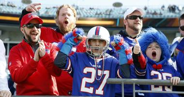 Jan 7, 2018; Jacksonville, FL, USA; Buffalo Bills fans cheer prior to the the AFC Wild Card playoff football game against the Jacksonville Jaguars at EverBank Field.