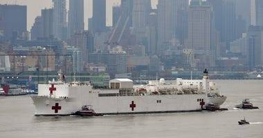 USNS Comfort arriving in New York City