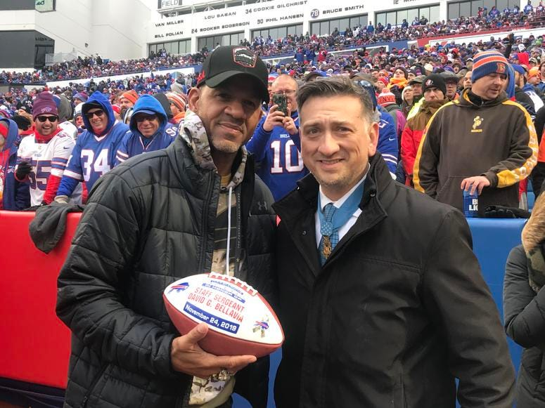 Andre Reed and David Bellavia