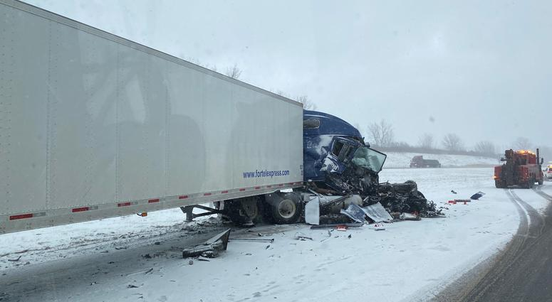 90 truck crash