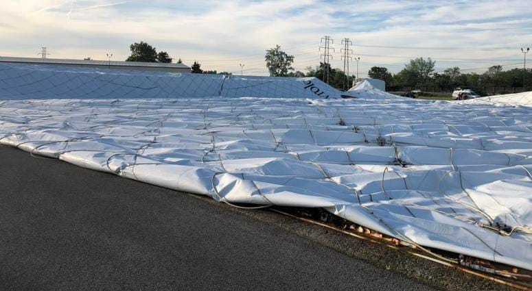 Paddock Golf Dome deflated for summer