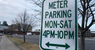 New parking sign added on Columbia Street in Buffalo. January 2, 2019 (WBEN Photo/Mike Baggerman)