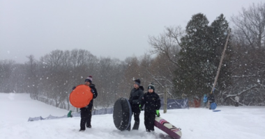 Sledding at Chestnut Ridge Park
