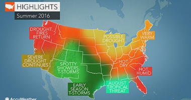 AccuWeather Summer 2017 Forecast Map