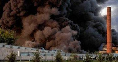 Lockport's HTI Plant burns, August 10, 2016