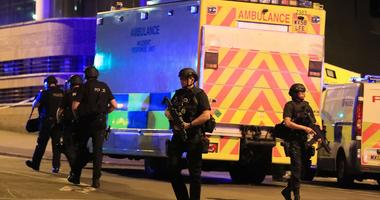 May 22, 2017; Manchester, England; Police at Manchester Arena after reports of an explosion at the venue during an Ariana Grande concert. Mandatory Credit: PA Images/Sipa USA via USA TODAY NETWORK
