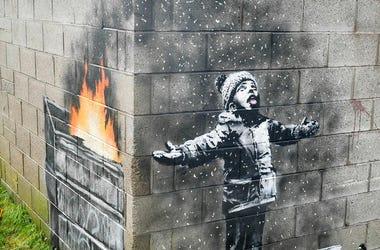 Banksy Mural in Wales